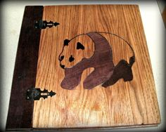 Panda Inlay Photo / Scrapbook Album  9x9 by BillsWoodenPleasures, $50.00