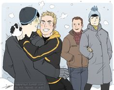 spirks enjoying the snow ~happy winter~