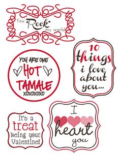 Valentine's Day Tags #2 from Mommy by Day {Crafter} by Night