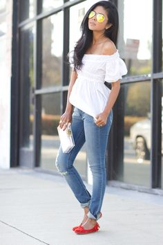 Super cute jeans and tee shirt