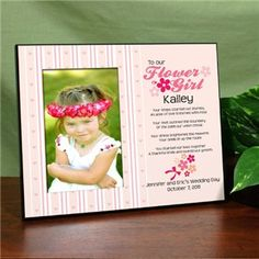 Unique Flower Girl Picture Frame | Personalized Flower Girl Picture Frame<3<3 Designing and Creativity in Progress <3 ENVIED WEDDINGS & EVENTS www.enviedweddingsandevents.com  <3 If you live in Oregon and want your wedding or event to be unique and special, contact us! <3<3