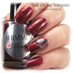 Nail Art by Belegwen: Shimmer Polish: Marilyn