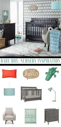 Have a look at this adorable baby nursery theme, great baby boy nursery inspiration.Green, grey and blue baby boy nursery. Nursery Twins, Baby Nursery Themes, Baby Boy Rooms, Baby Boy Nurseries, Nursery Room, Nursery Ideas, Playroom Ideas, Kids Rooms, Kids Bedroom