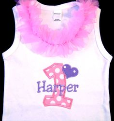 First Birthday Tank Top Bodysuit Pink Lilac Lavender by whimsytots, $34.00