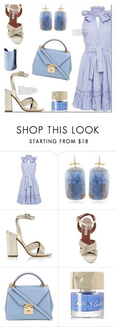 """Alexis Briley Ruffle Dress"" by marialibra on Polyvore featuring Alexis, Annette Ferdinandsen, Tabitha Simmons, Mark Cross, Smith & Cult and Maison Margiela"