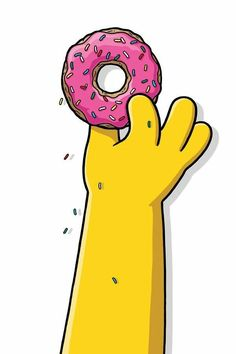 The Simpsons Homer grabbing his pink doughnut cartoon clipart pop culture Simpsons Donut, The Simpsons, Simpsons Party, Cartoon Wallpaper, Simpson Wallpaper Iphone, Iphone Wallpaper, Homer Simpson, Los Simsons, Wallpaper Iphone Disney