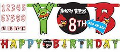 Angry Birds Jumbo Letter Add-An-Age Birthday Banner Kit by ElsaPartySupply on Etsy
