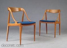 Dining chair by Johannes Andersen at Decopedia
