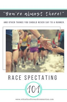 Heading to an event for a day of race spectating? Here are some race day dos and don'ts for spectators to keep things fun and safe for everyone! Running On Treadmill, Running Tips, Training Plan, Marathon Training, Best Of Intentions, Beginning Running, Almost There, Running Motivation, How To Make Light