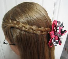 Figure 8 Braid - one sided tuck under with bangs