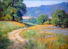 Spring Morning by Michael Severin Oil ~ 9 inches x 12 inches