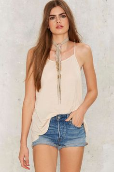 Without a Sound Ribbed Tank - Beige | Shop Clothes at Nasty Gal!
