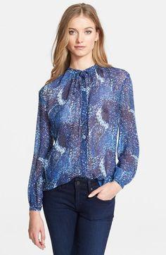 Rachel Zoe 'Liza' Print Silk Shirt available at #Nordstrom
