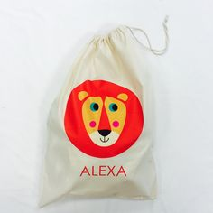 Childrens Lion Personalised Sack #childrensgifts #personalisedgifts #jual  #bagsatjual £14.99 at personalisedgifts.jual.co.uk ❤️✌️#presents