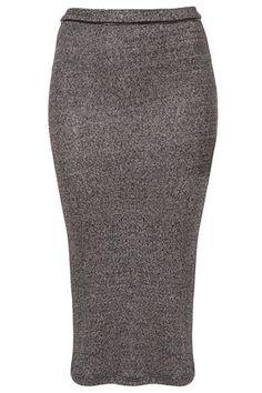 Metallic Tube Skirt