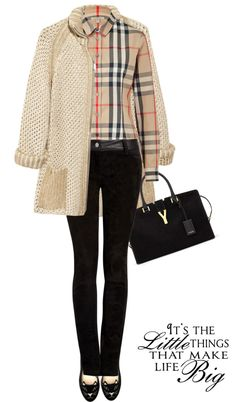 """Blouse by BURBERRY"" by fashionmonkey1 ❤ liked on Polyvore"