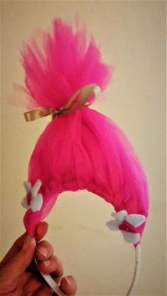 Trolls are back again! And kids are wanting to dress-up in fun colored pretend hair Now they can have non-permanent HOT PINK TROLL inspired hair headbands from Heart Felt Play Store. 5 of these Poppy