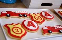 Fire party themed cookies