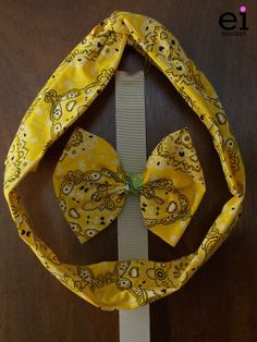 Faixa turbante regulável Amarela para Mães - M: R$25 Laço Amarelo para Filhas - M: R$10