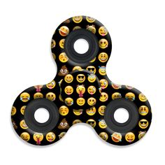 Spinner Squad Emoji Print Fidget Spinner! Voted #1 for fastest and longest spin!