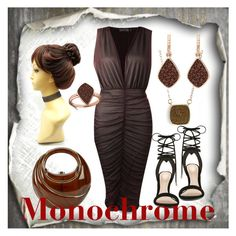"""monochrome"" by billiehunsaker ❤ liked on Polyvore featuring Boohoo, ALDO, Rocio, H.Azeem, Elise M. and monochrome"