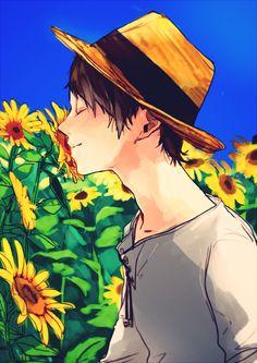 Eren Jaeger ~ beautiful sunflowers