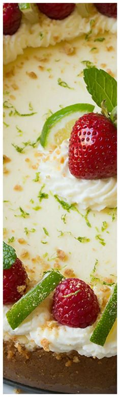 Key Lime Cheesecake ~ The perfect summer cheesecake... This is TO DIE FOR!