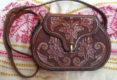 Vintage 1950s Boho Leather Tooled Handbag / by InTheMood4Vintage, $30.00