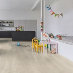 Quick-Step laminate flooring is the UK's leading brand of laminate flooring featuring a vast range of styles, décors and textures, which includes both wood and tile effect designs. Light Oak, Light Beige, Quick Step Flooring, Waterproof Flooring, Bathroom Flooring, Laminate Flooring, Kids Rugs, Living Room, Modern