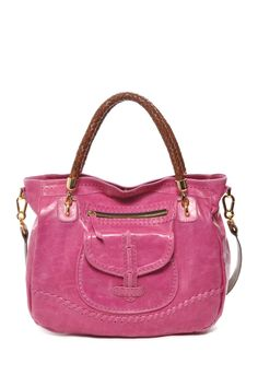 Braided Handle Leather Shoulder Bag by Carla Mancini on @HauteLook
