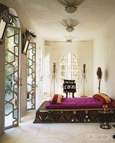 Moroccan Style Home / Casa estilo marroquí - Casa Haus Moroccan Lounge, Moroccan Bedroom, Moroccan Design, Moroccan Decor, Moroccan Style, Modern Moroccan, Moroccan Interiors, Ethnic Bedroom, Oriental Bedroom