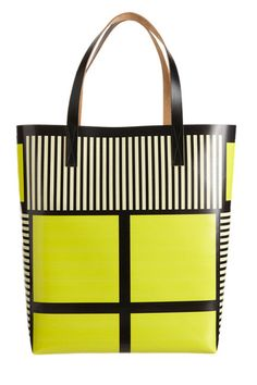Neon yellow black and white stripes...love it