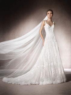 Vestido de novia evase Maldivas