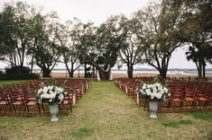 Outdoor Wedding Ceremony with Trees | photography by http://www.jenningskingphotography.com