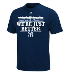 New York Yankees Navy Majestic Just Better T-Shirt Lee 😄 Yankees Outfit, Yankees Gear, Yankees Baby, New York Yankees Baseball, Baseball Tickets, Red Sox Nation, Derek Jeter, World Of Sports, Sports