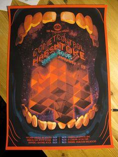 Poster Comet Control & Harsh Toke. Spanish Tour, 2015.