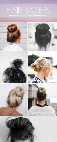 Hair Raisers: A DDG Moodboard full of bun-spiration - dropdeadgorgeousdaily.com