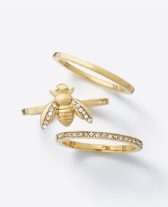 Coveting: Bumble Bee Ring Set