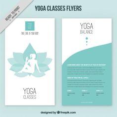 Folletos de yoga.