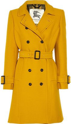 #ShopStyle: #BurberryLondon Ribbed cotton and wool-blend trench coat