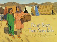 A Crafty Arab: 85 Books about the Arab World - Four Feet, Two Sandals by Karen Lynn Williams