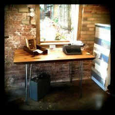 Part of the new Urban Ashes Detroit De-Nailed RD table collection ... The RD Desk ...available only at Found Gallery in The Kerrytown Shops Ann Arbor