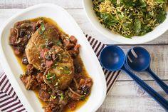 Côtelettes de Porc à la Provençale et Salade Tiède d'Orzo Japchae, Beef, Ethnic Recipes, Food, Kitchens, Pork Chops, Meat, Essen, Meals