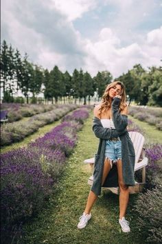 This is the best sweater for any weather at the best lavender field near Montreal - La Maison Lavande. | lavender fields Canada | banana republic sweater outfits | banana republic women outfits | sweater weather outfits | long sweater outfits | long sweater with shorts | how to style a long sweater outfit ideas | fall long cardigan outfits | fall outfits long cardigan sweaters| fall outfits sweater and shorts | sweater outfits fall aesthetic | sweater outfits fall casual Montreal Travel, Montreal Canada, Travel Style, Travel Fashion, Best Instagram Photos, Girls Getaway, Girls Weekend, Sweater Weather, Anne Klein
