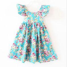 2016 novo bebê meninas flores vestido da menina de flor Vestidos Vestidos meninas vestido de algodão em Vestidos de Mamãe e Bebê no AliExpress.com | Alibaba Group