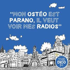 Mon #ostéo est #parano il veut voir mes #radios  Did you know #apocopes are frequently used in medical environment?  #apocope #thedico #ledico #frenchdictionary #learnfrench #colloquial #expressions #FLE #
