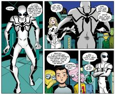 Spider-Man bemoans his new Future Foundation costume from Amazing Spider-Man #658