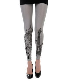 Another great find on #zulily! Gray Paris Footless Tights by Zohara #zulilyfinds