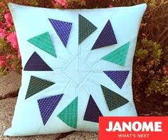 janome flying geese pillow crop