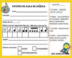 ATIVIDADES DE EDUCAÇÃO INFANTIL  E MUSICALIZAÇÃO INFANTIL: Planejamento para aulas de música